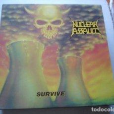 Discos de vinilo: NUCLEAR ASSAULT SURVIVE. Lote 195134133
