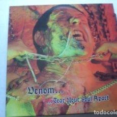 Discos de vinilo: VENOM ...TEAR YOUR SOUL APART. Lote 195138618