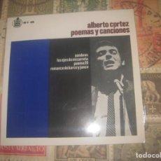 Discos de vinilo: ALBERTO CORTEZ (POEMAS Y CANCIONES). EP. ( HISPAVOX. 1967) OG ESPAÑA SIN SEÑALES DE USO. Lote 195141722