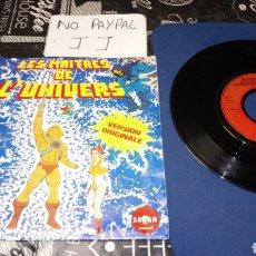 Discos de vinilo: SINGLE MASTERS DEL UNIVERSO MATTEL EDICIÓN FRANCESA HE MAN SKELETOR VER FOTOS PORTADA PINTADA A BOLI. Lote 195142288