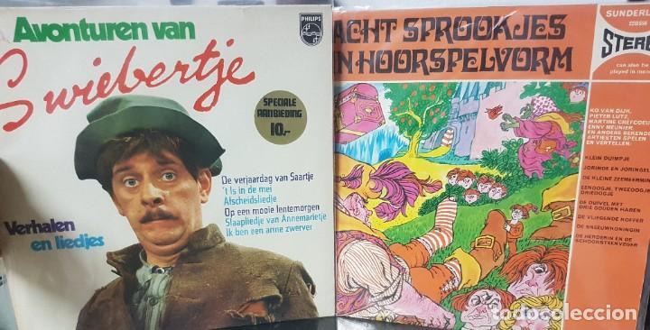 LOTE DE 2 LPS DE CUENTOS INFANTILES - HOLANDA - AVONTUREN VAN SWIEBERTJE Y OTRO - 1965 Y 1969 (Música - Discos - LP Vinilo - Otros estilos)