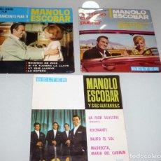 Discos de vinilo: 3 VINILOS MANOLO ESCOBAR. . Lote 195150282