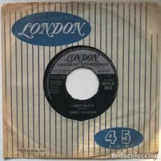 Discos de vinilo: JOHNNY TILLOTSON. I CAN'T HELP IT/ I'M SO LONESOME I COULD CRY. LONDON, UK 1962 SINGLE. Lote 195150573