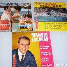 Discos de vinilo: 3 SINGLES MANOLO ESCOBAR. BELTER. Lote 195150732