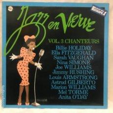 Discos de vinilo: JAZZ EN VERVE VOL. 3 - CHANTEURS 1988. Lote 195151222