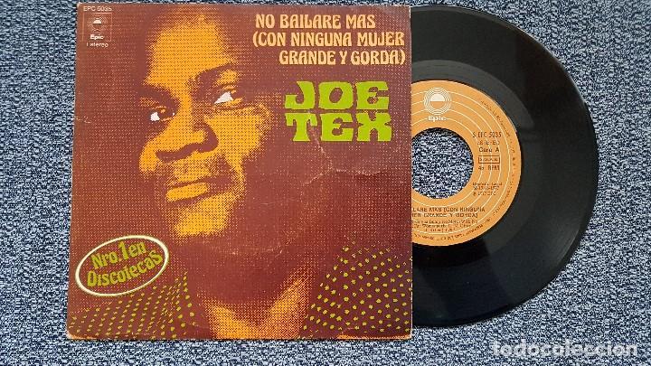 JOE TEX - NO BAILARÉ MÁS CON NINGUNA MUJER GRANDE / DESTRUYO TODO LO QUE TOCO. AÑO 1.977. CBS (Música - Discos - Singles Vinilo - Funk, Soul y Black Music)