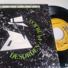Discos de vinilo: SINGLE ( VINILO)-PROMOCION- DE DESORDEN PUBLICO AÑOS 80. Lote 195161702