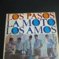 Discos de vinilo: LOS PASOS. LA MOTO - LOS AMOS. HISPA VOX H/140. Lote 195164052