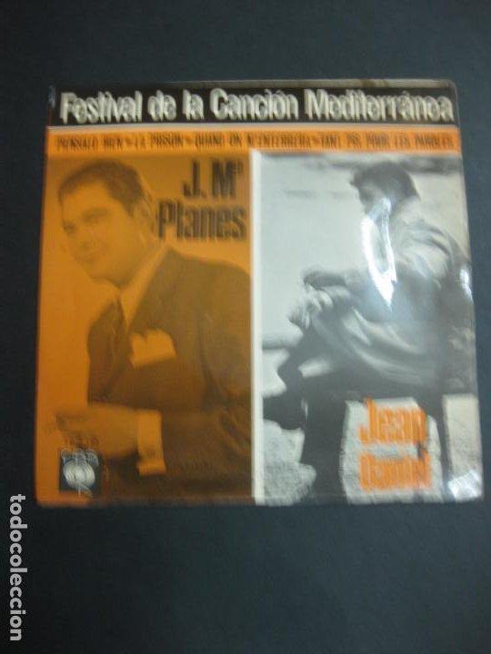 Discos de vinilo: FESTIVAL DE LA CANCION MEDITERRANEA 1966. J.Mª PLANES - JEAN DANIEL-MADELEINE PASCAL - SERGE ALEXAND - Foto 2 - 195165837
