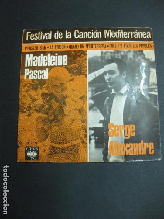 FESTIVAL DE LA CANCION MEDITERRANEA 1966. J.Mª PLANES - JEAN DANIEL-MADELEINE PASCAL - SERGE ALEXAND (Música - Discos de Vinilo - EPs - Otros Festivales de la Canción)