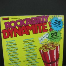 Discos de vinilo: ROCKABILLY DYNAMITE ! 25 EXPLOSIVE HITS. 1979 WARWCK RECORDS LONDON.. Lote 195167423