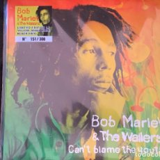 Discos de vinilo: BOB MARLEY - CAN'T BLAME THE YOUTH - 1 LP, ED. LIMITADA, VINILO AMARILLO MIXED MODE BLACK. Lote 195169077