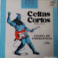 Discos de vinilo: CELTAS CORTOS.ROCK CELTA. SALIDA DE EMERGENCIA. LP CON INSERTO CON FOTOS. Lote 195169812