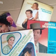 Discos de vinilo: LOTE DE 4 SINGLES ( VINILO) DE JUANITO VALDERRAMA/DOLORES ABRIL. Lote 195170336