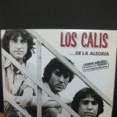 Discos de vinilo: LOS CALIS .......DE LA ALEGRIA. INCLUYENDO SU EXITO HEROINA VERSION ESPECIAL DISCOTECAS. LP 1986.. Lote 195171328