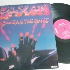 Discos de vinilo: SAXON-LP POWER AND THE GLORY. Lote 195172557