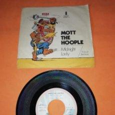 Discos de vinilo: MOTT THE HOOPLE. MIDNIGHT LADY. IT MUST BE LOVE. ISLAND RECORDS. 1971. Lote 195175758