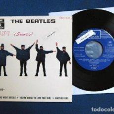 Discos de vinilo: BEATLES SINGLE EP EMI ODEON ESPAÑA RE EDICION DOS REFERENCIAS DSOE 1J EXCELENTE ESTADO COLECCION. Lote 195176146