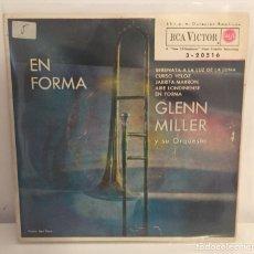 Discos de vinilo: GLENN MILLER Y SU ORQUESTA-/EN FORMA,JARRITA MARRÓN,+2/EP 1962 RCA VICTOR,ESPAÑA. Lote 195177396