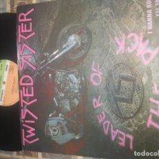 Discos de vinilo: TWISTED SISTER - LEADER OF THE PACK / I WANNA ROCK 12 PULGADAS (ATLANTIC 1983) ORIGINAL ENGLAND. Lote 195177808