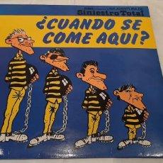 Discos de vinilo: SINIESTRO TOTAL -¿CUÁNDO SE COME AQUI?- LP DISCO VINILO. Lote 195184840