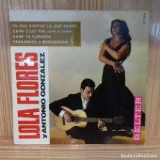 Discos de vinilo: LOLA FLORES Y ANTONIO GONZÁLEZ PA QUE SIENTAS LO QUE SIENTO . Lote 195184993