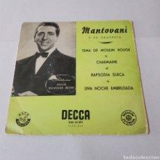 Discos de vinilo: MANTOVANI Y SU ORQUESTA - MOULIN ROUGE - CHARMAINE - RAPSODIA SUECA - UNA NOCHE EMBRUJADA - DECCA. Lote 195185313