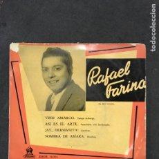Discos de vinilo: RAFAEL FARINA SINGLE EP DE 1958. Lote 195187658