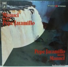 Discos de vinilo: PEPE JARAMILLO MEETS MANUEL & THE MUSIC OF THE MOUNTAINS // 1971 // ENGLAND // (VG VG).LP. Lote 195187791