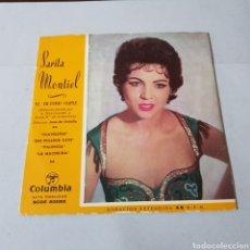 Discos de vinilo: SARITA MONTIEL - EL ULTIMO CUPLE - CLAVELITOS - SUS PICAROS OJOS - VALENCIA - LA MUCHACHA - COLUMBIA. Lote 195187905