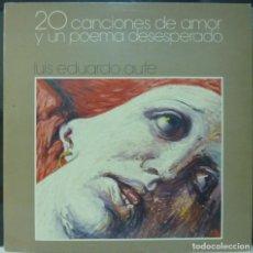 Discos de vinilo: LUIS EDUARDO AUTE // 20 CANCIONES DE AMOR Y UN POEMA DESESPERADO //DISCO Y PORTADA DOBLE //1986 /(VG. Lote 195189656