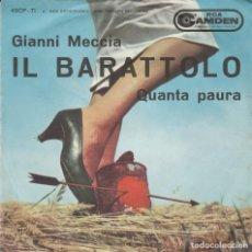 Discos de vinilo: 45 GIRI GIANNI MECCIA IL BARATTOLO DA UN IDE A DI ENNIO MORICONE CAMDEN RCA 1961. Lote 195191372