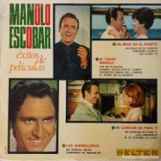 Discos de vinilo: MANOLO ESCOBAR.EXITOS DE PELICULAS. LP ORIGINAL BELTER. Lote 195192763