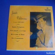 Discos de vinilo: JUANITO VALDERRAMA + NIÑO RICARDO EP COLUMBIA 1959 - SUSPIROS CARTAGENEROS+3 - FLAMENCO COPLA . Lote 195192921