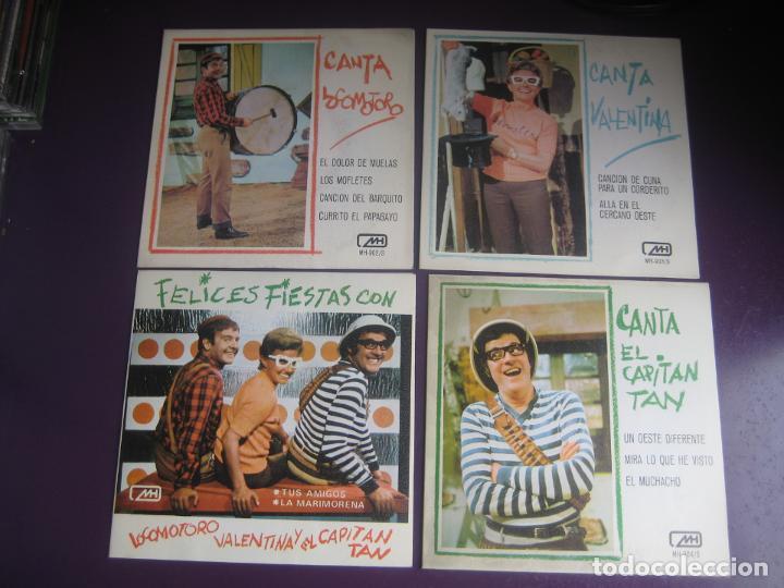 LOTE CHIRIPITIFLAUTICOS SGS MH 1970 - VALENTINA + CAPITAN TAN + LOCOMOTORO - VINILO MULTICOLOR - (Música - Discos - Singles Vinilo - Música Infantil)
