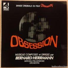 Discos de vinilo: FASCINACIÓN (OBSESSION) BERNARD HERRMANN ED. FRANCESA 1976 (COMO NUEVO). Lote 195194158