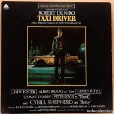 Discos de vinilo: TAXI DRIVER BERNARD HERRMANN EDICIÓN USA 1976 (COMO NUEVO). Lote 195194452