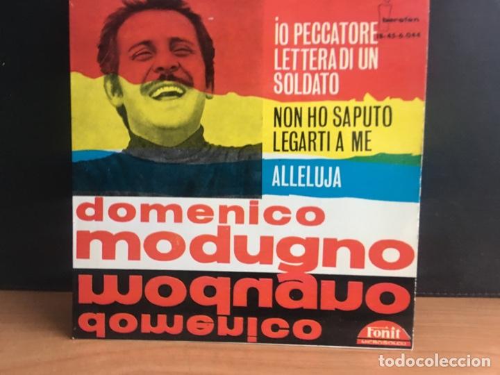 DOMENICO MODUGNO - LETTERA DI UN SOLDATO/NON HO SAPUTO LEGARTI A ME/IO PECCATORE/ALLELUJA (EP (D:NM) (Música - Discos de Vinilo - EPs - Canción Francesa e Italiana)
