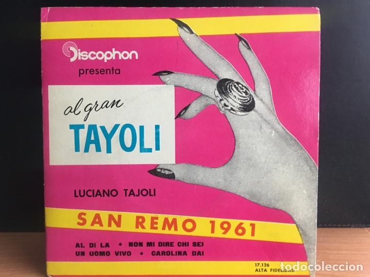 LUCIANO TAJOLI - EL GRAN TAYOLI (EP) (DISCOPHON) 17.126 (D:NM) (Música - Discos de Vinilo - EPs - Otros Festivales de la Canción)