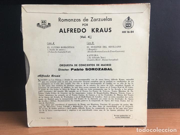Discos de vinilo: Alfredo Kraus - Romanzas De Zarzuelas Vol. 4 (EP) (Hispavox) HH 16-84 (D:NM) - Foto 2 - 195194643