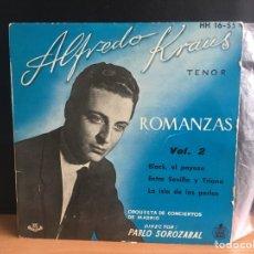 Discos de vinilo: ALFREDO KRAUS - ROMANZAS DE ZARZUELAS VOL. 2 (EP) (HISPAVOX) HH-16-55 (D:NM). Lote 195194758
