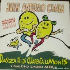 Discos de vinilo: JUAN ANTONIO CANTA - DANZA DE LOS CUARENTA LIMONES MAXI SINGLE SPAIN 1996. Lote 195195846