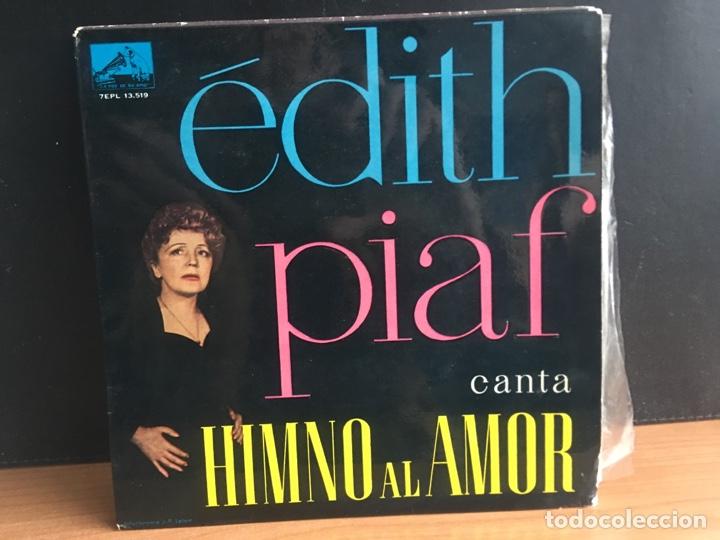 EDITH PIAF - CANTA HIMNO AL AMOR (EP) (LA VOZ DE SU AMO) 7EPL 13.519 (D:NM) (Música - Discos de Vinilo - EPs - Canción Francesa e Italiana)