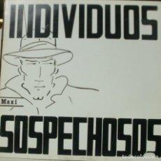 Discos de vinilo: INDIVIDUOS SOSPECHOSOS - NOTA DE CLARIDAD MAXI SINGLE SPAIN 1986 + INSERT. Lote 195196560