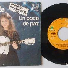 Disques de vinyle: NICOLE / UN POCO DE PAZ / SINGLE 7 INCH. Lote 195196725