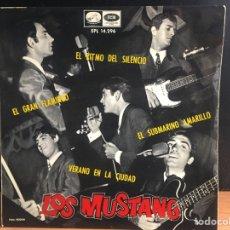 Discos de vinilo: LOS MUSTANG - SUBMARINO AMARILLO (EP) (LA VOZ DE SU AMO) EPL 14.296 (D:NM). Lote 195198361