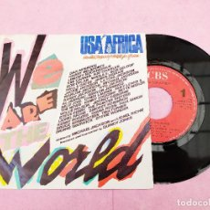 Discos de vinilo: SINGLE - USA FOR AFRICA – WE ARE THE WORLD - MICHAEL JACKSON PORTUGAL (VG++/VG++) V. Lote 195198497