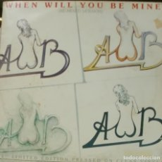 Discos de vinilo: AVERAGE WHITE BAND - WHEN WILL YOU BE MINE MAXI SINGLE VINILO COLOR MARRON 1979 . Lote 195199061
