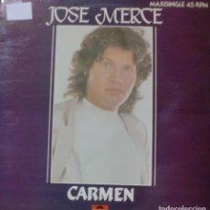 Discos de vinilo: JOSE MERCE - CARMEN MAXI SINGLE PROMO SPAIN 1983. Lote 195199188