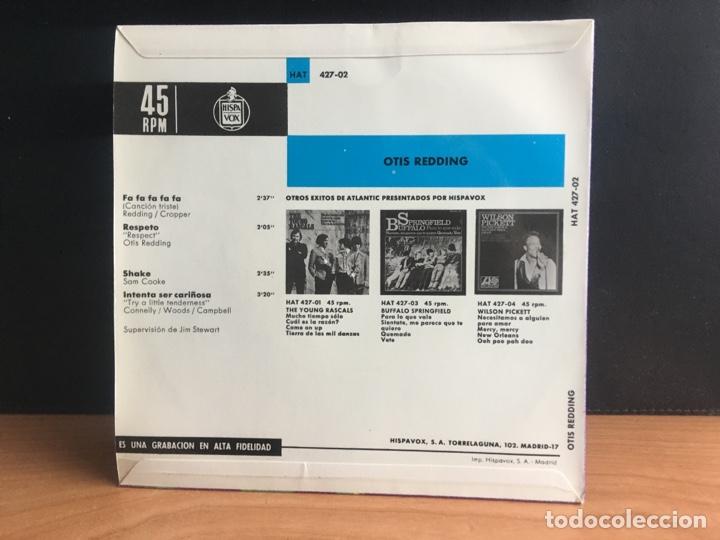 Discos de vinilo: Otis Redding - Fa-Fa-Fa-Fa-Fa / Respeto / Shake / Intenta Ser Cariñosa (EP) (Atlantic) (D:NM) - Foto 2 - 195199997